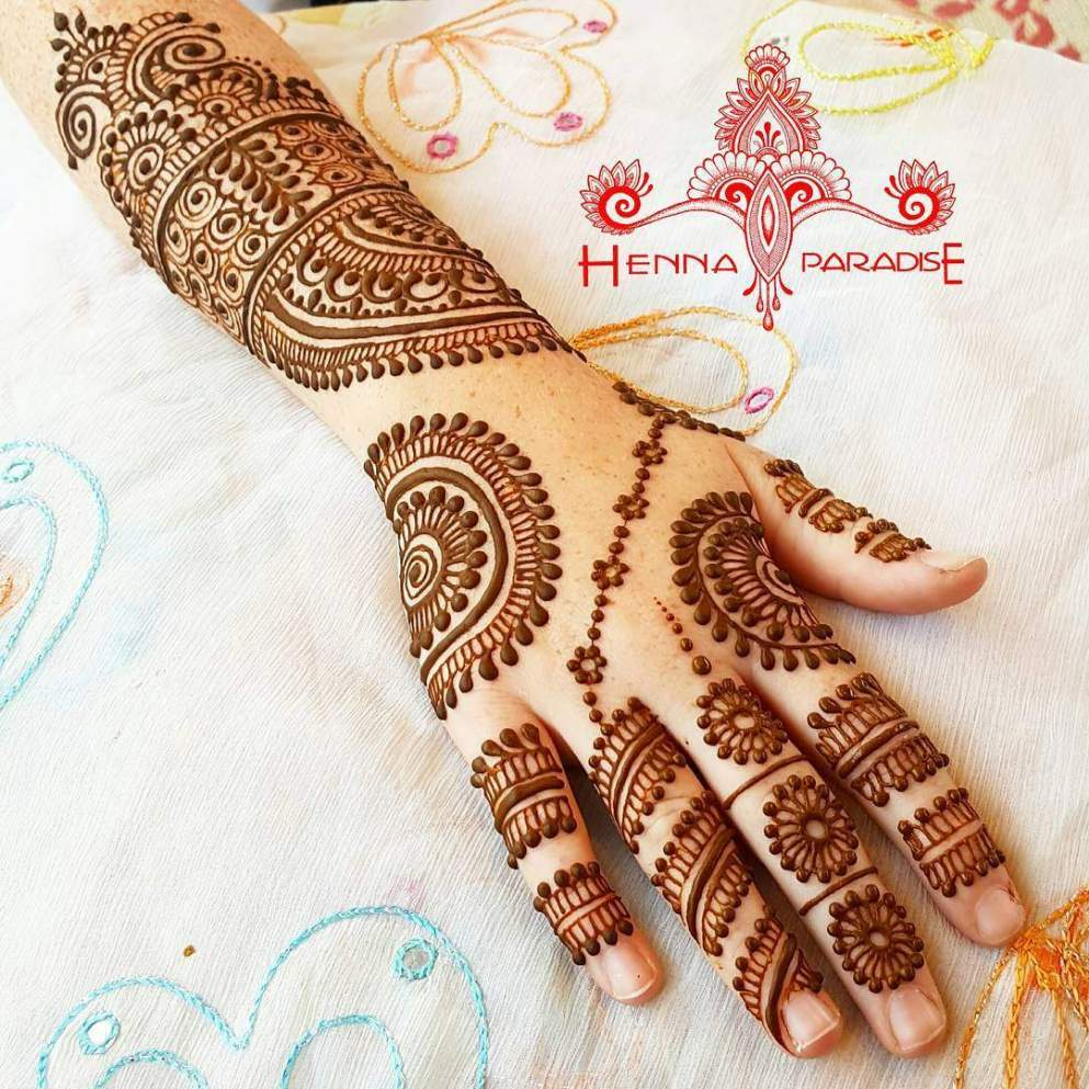 how to draw henna on your hand