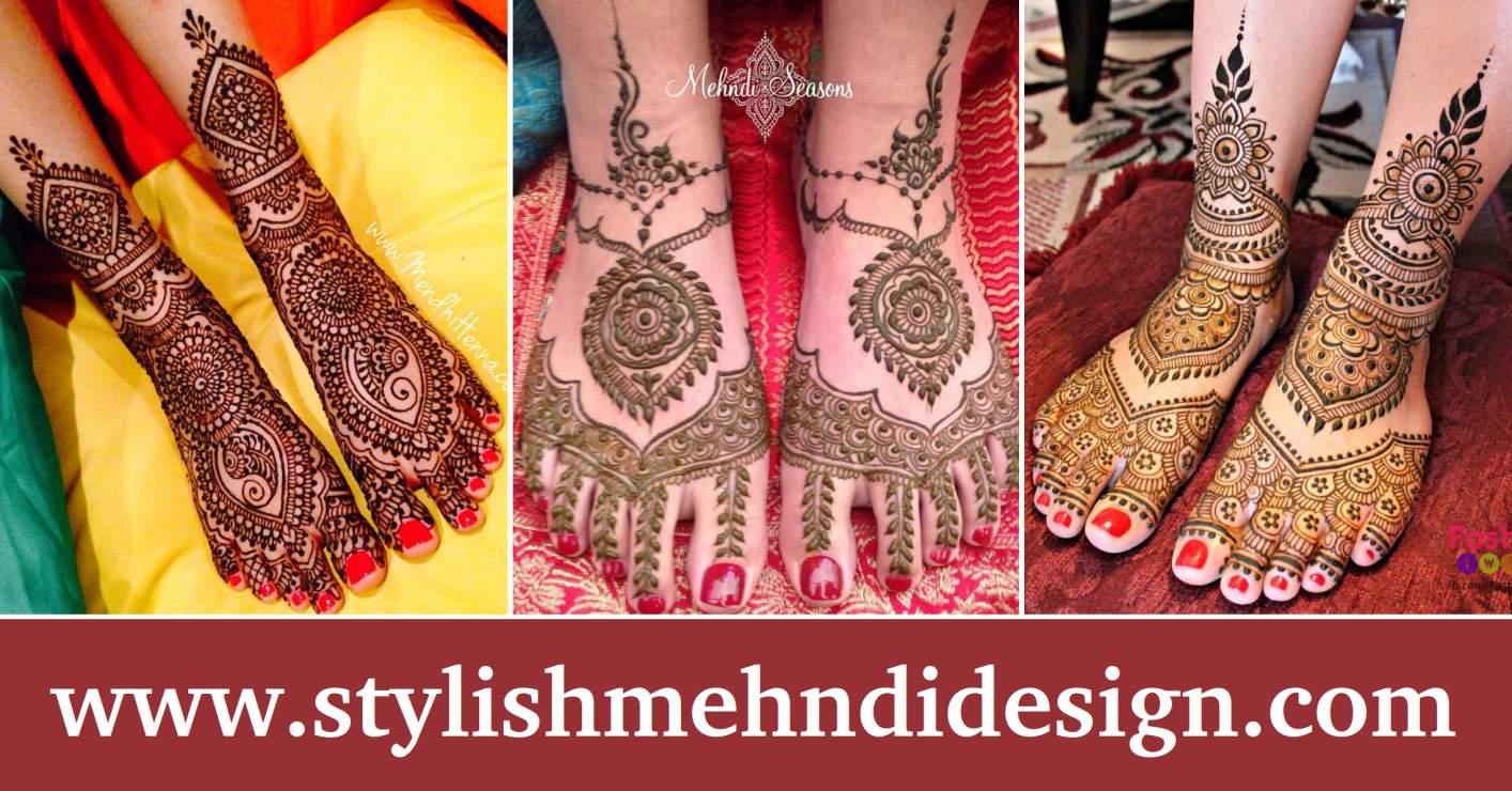 Mehndi Designs For Feet Bridal : Stylish bridal mehndi designs for feet artistica