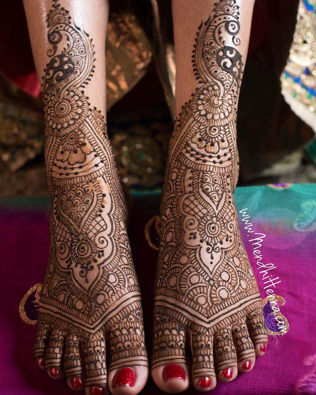 10 Stylish Bridal Mehndi Designs for Feet , Mehndi Artistica