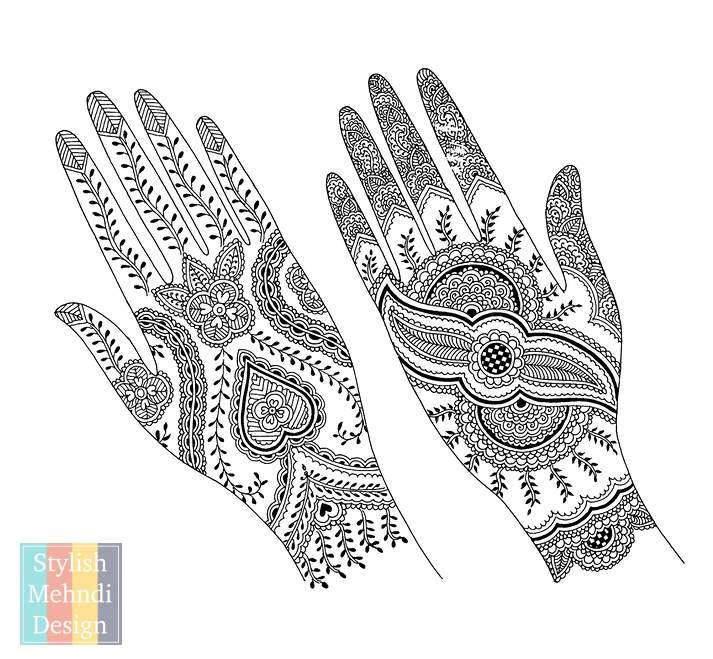 40 Henna Mehndi Design Patterns For Hand Mehndi Artistica Fascinating Indian Design Patterns