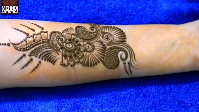Mehndi Designs Learning Hands : Beautiful henna mehndi design for hand step by artistica
