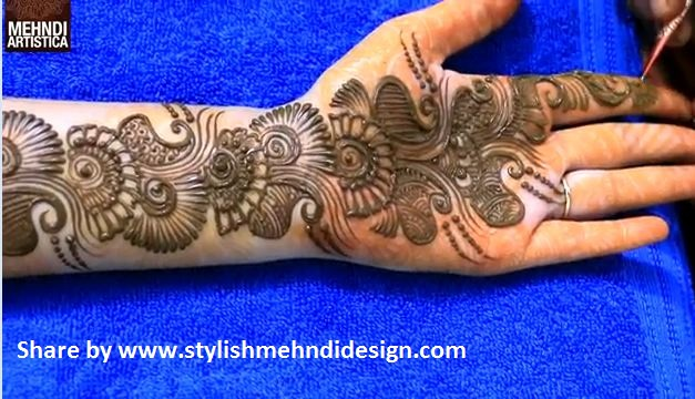 Beautiful Henna Mehndi Design for hand - Step by step ...
