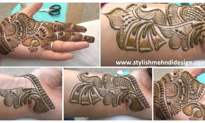 Latest Indian Arabic Henna Mehndi Design Step By Step Tutorial