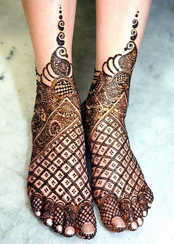 10 Stylish Bridal Mehndi Designs For Feet Mehndi Artistica